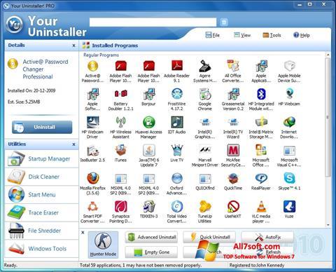 截圖 Your Uninstaller Windows 7