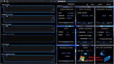 截圖 GIGABYTE OC Guru Windows 7
