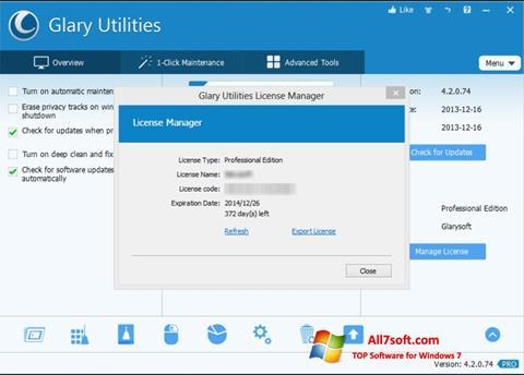 截圖 Glary Utilities Windows 7