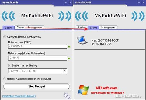 截圖 MyPublicWiFi Windows 7