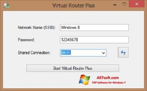 截圖 Virtual Router Plus Windows 7
