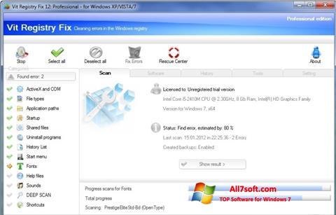 截圖 Vit Registry Fix Windows 7