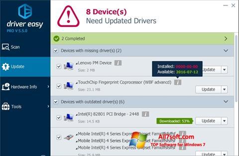 截圖 Driver Easy Windows 7