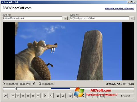 截圖 Free Video Dub Windows 7