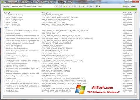 截圖 NVIDIA Inspector Windows 7