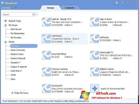 截圖 RaidCall Windows 7