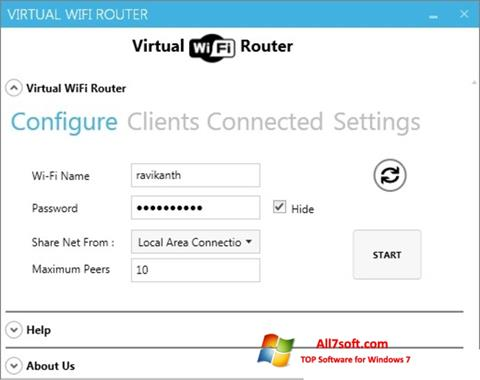 截圖 Virtual WiFi Router Windows 7