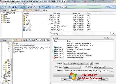 截圖 UltraISO Windows 7