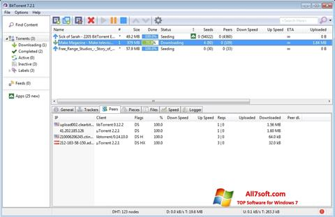 截圖 BitTorrent Windows 7