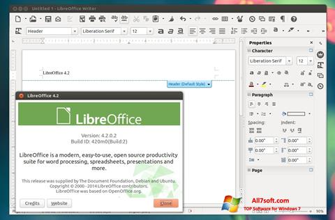 截圖 LibreOffice Windows 7