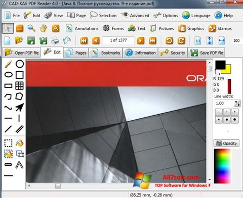 截圖 PDF Reader Windows 7