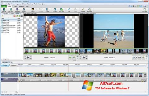 截圖 VideoPad Video Editor Windows 7