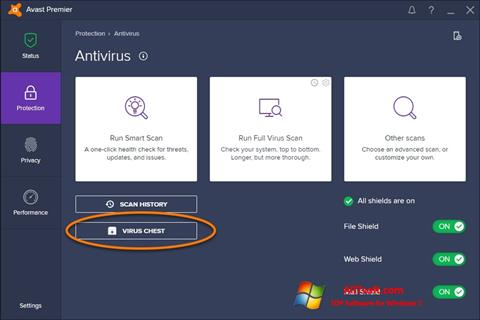 截圖 Avast Windows 7