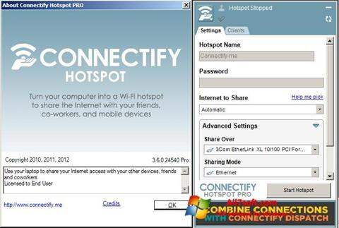 截圖 Connectify Windows 7