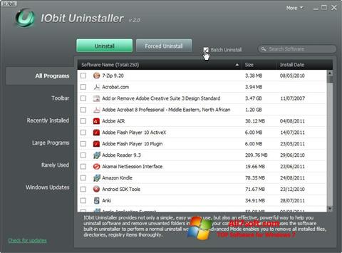 截圖 IObit Uninstaller Windows 7