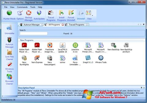 截圖 Revo Uninstaller Pro Windows 7