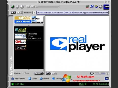 截圖 RealPlayer Windows 7