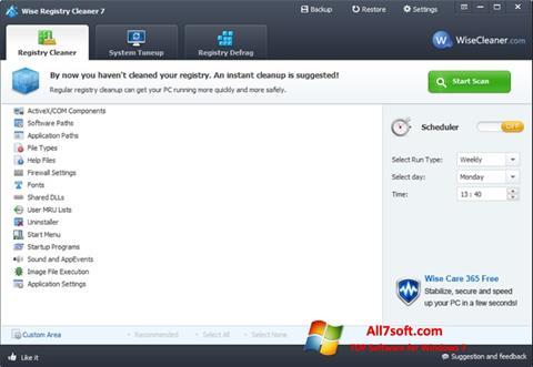 截圖 Wise Registry Cleaner Windows 7