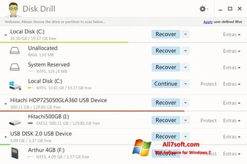 截圖 Disk Drill Windows 7