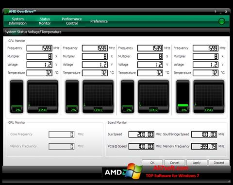截圖 AMD Overdrive Windows 7