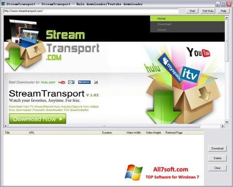 截圖 StreamTransport Windows 7