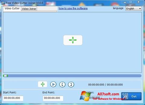截圖 Free Video Cutter Windows 7