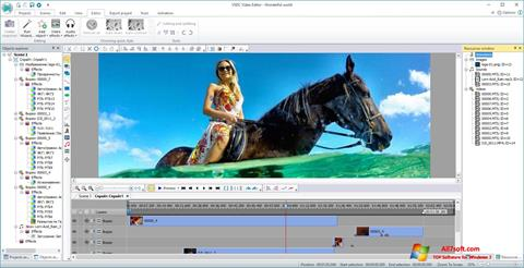 截圖 VSDC Free Video Editor Windows 7
